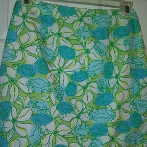 LILY PULITZER LINED ALINE DAISY SKIRT SIZE 2